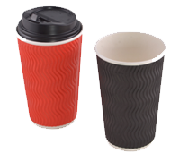 Hot and cold paper cups